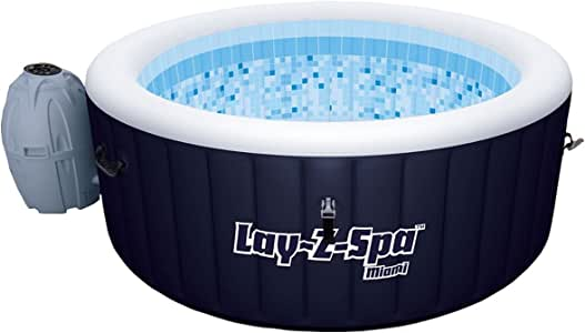 Bestway Inflatable Spa Hot Tub Pool Lay Z Portable Outdoor Jacuzzi 2-4 Adult 81 Jets