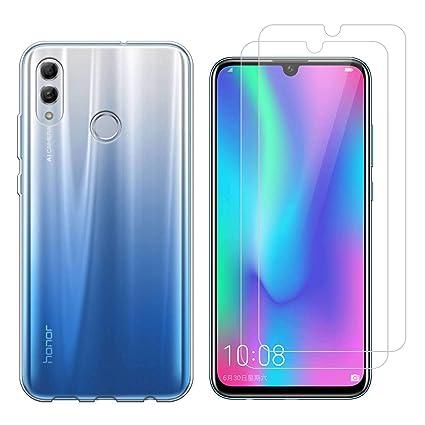 Funda Huawei P Smart 2019 Transparent Suave TPU Silicona Protector Trasero Carcasa para Huawei Honor 10 Lite/P Smart 2019 (6,21 Pulgada) con Dos ...