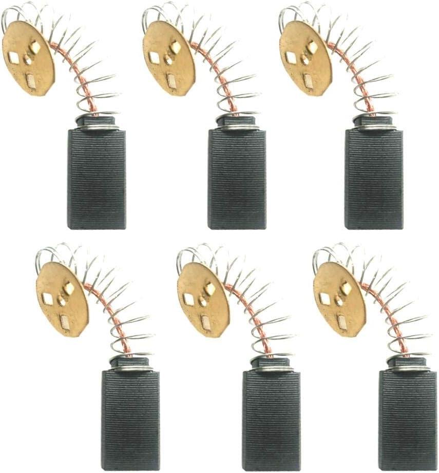 TOOLSCO Reliable (6PCS) 145323-06 Replacement Carbon Brushes for DeWALT DW705, DW708, Replaces 145323-03, 145323-02