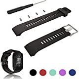 For Garmin Forerunner 35 GPS Running Watch Replacement Band Strap - iFeeker Accessories Adjustable Soft Silicone Replacement Wrist Watch Strap Band Bracelet with Installation Screwdrivers and Lug Adapters Designed for Garmin Forerunner 35 GPS Running Watch