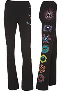 20499e513f4240 Yogamasti Women's Yoga Pants - Om Shanti -Hand Painted/Machine ...