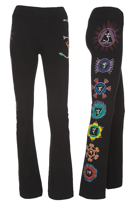 Chakra Dynamic Yoga Pants-Hand Painted Chakras-Machine Washable
