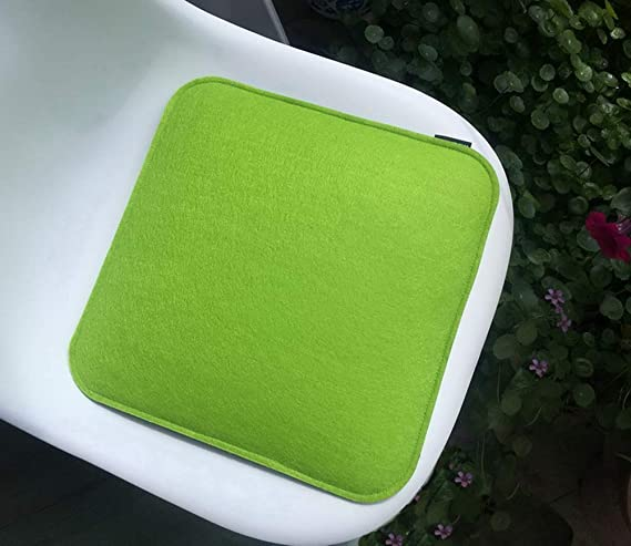 4aa4785a6df17 Welaxy Felt Chair Pads seat Cushion for Eames Chair DSW Plastic Chairs Pads  for Office Indoor Home Dining Kitchen (Green + Grey)