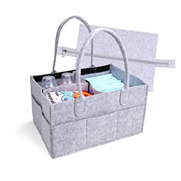Large Portable Baby Shower Caddy for Diaper and Baby Stuffs-Boys and Girls Nursery Storage Bin. Baby Diaper Caddy Organizer Diaper Caddy