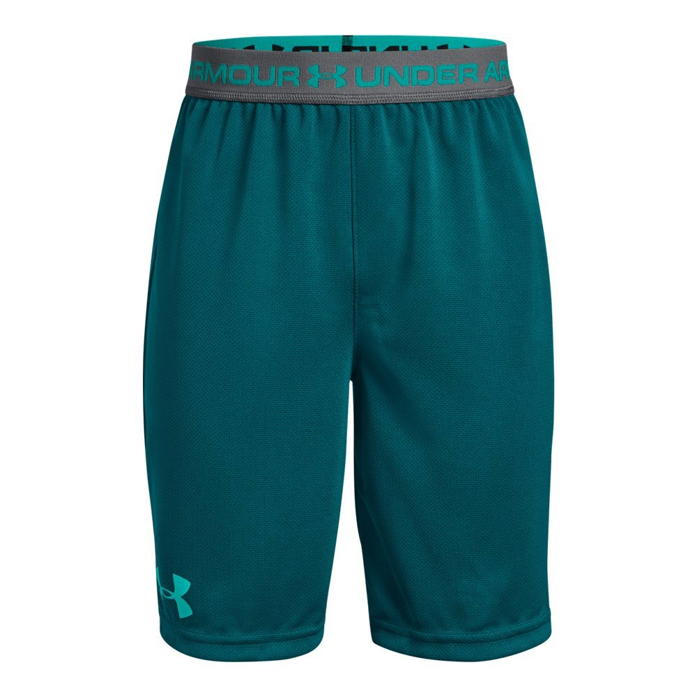 Under Armour Boys' Tech Prototype 2.0 Shorts, Tourmaline Teal (716)/Teal Punch, Youth X-Small