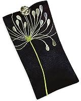 Eyeglass Pouch - Embroidered Chrysanthemum