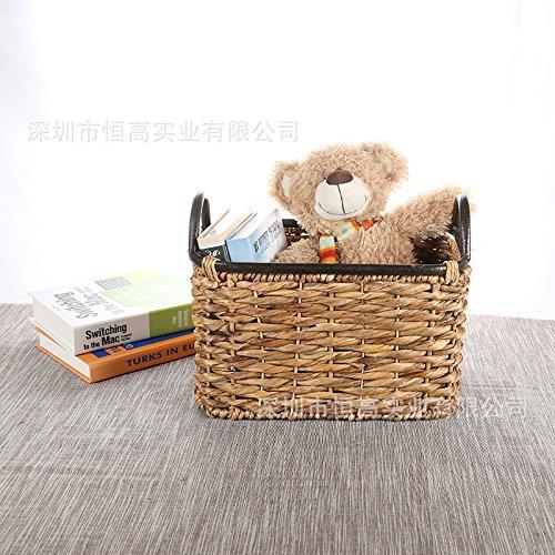 XBR Stroh - Korb Vintage Stroh lagerung Korb Spielzeug - Magazin wäschekorb Retro - Korb,mittlere,Bitte B077RGT93J | Haltbar