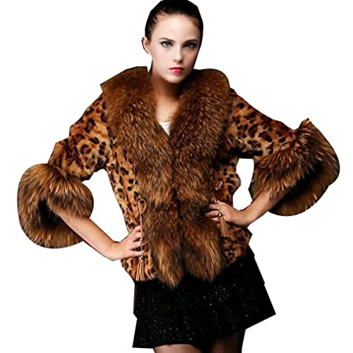 WTUS - Chaqueta de Invierno para Mujer,marrón