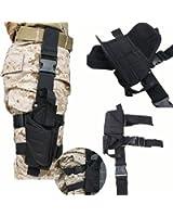 AGPTEK Tactical Army Black Pistol/Gun Drop Leg Thigh Holster