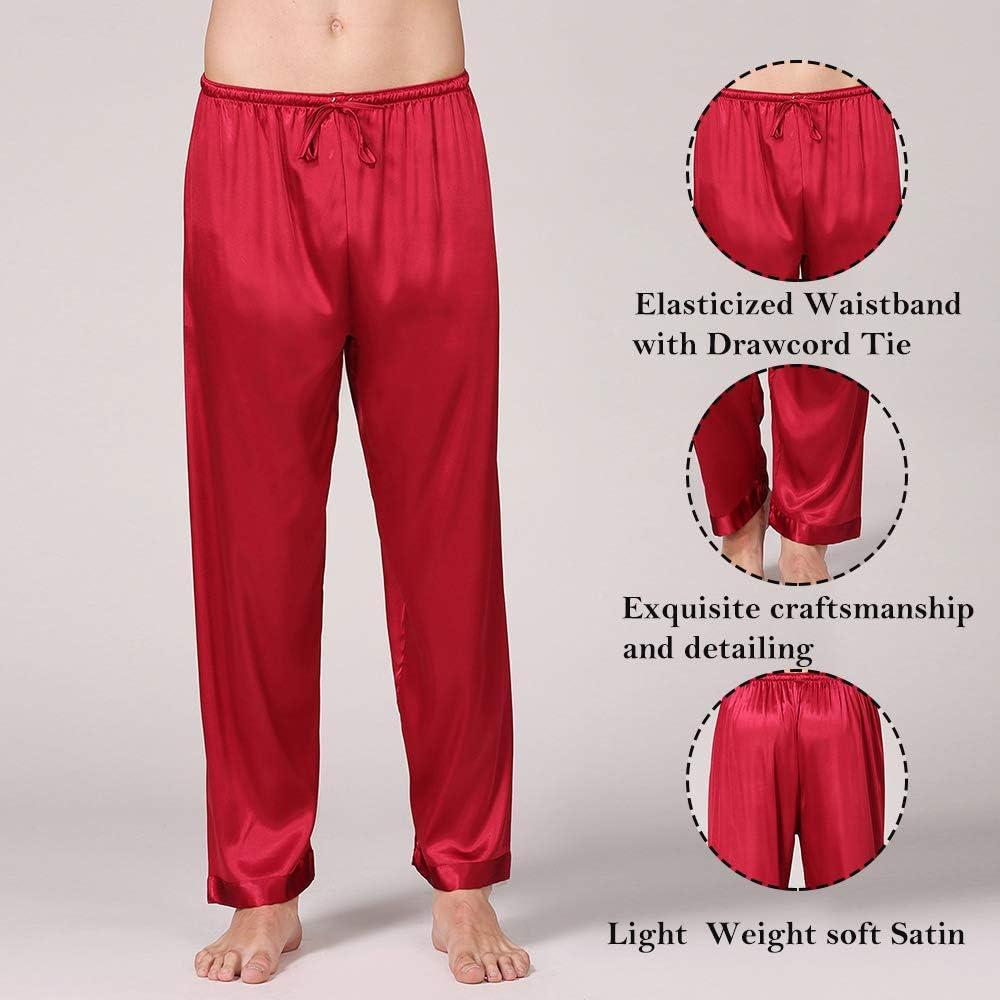 Dihope Pantalon Bas de Pyjama Longue Homme V/êtement dInt/érieur de Nuit Doux L/éger D/écontract/é Confortable