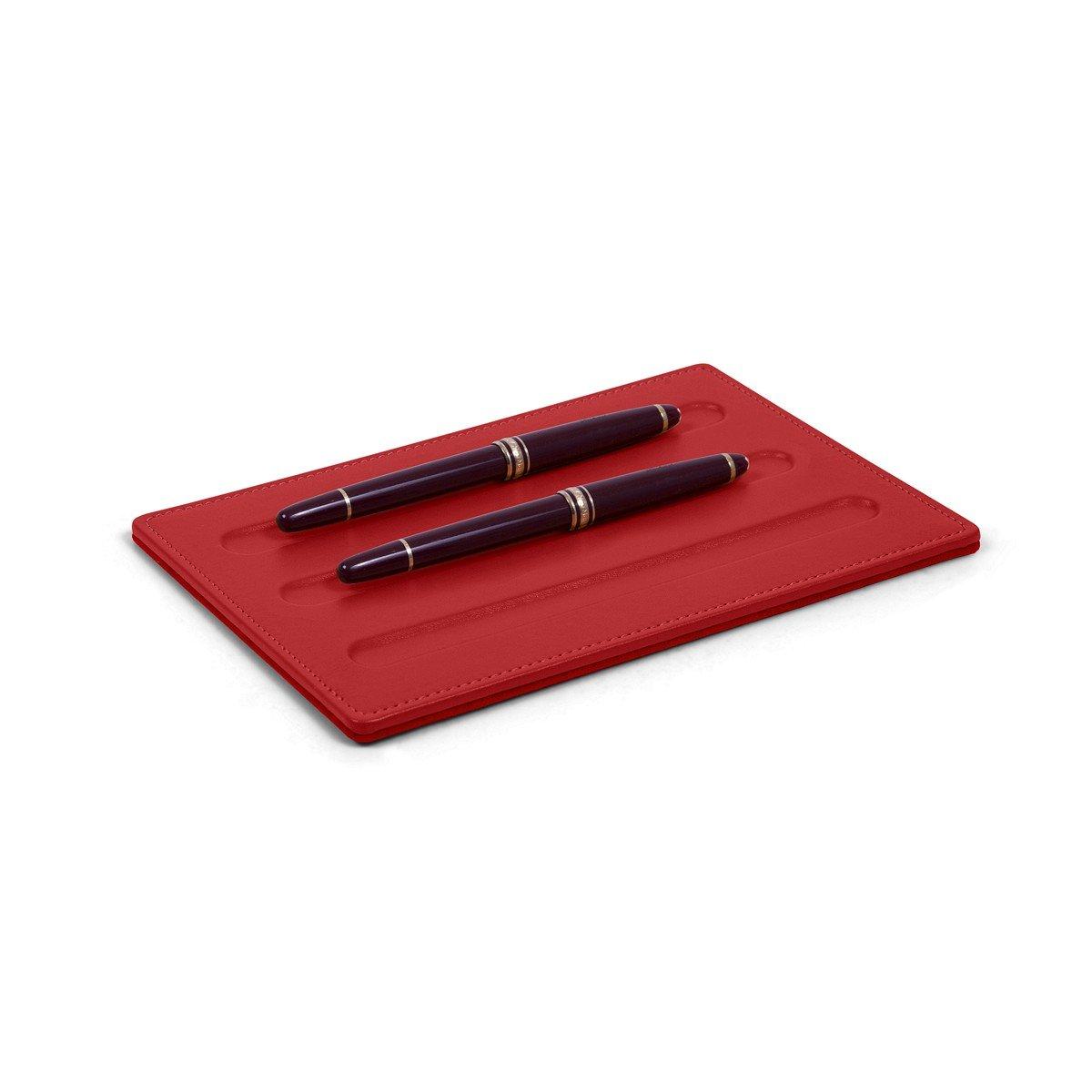 Lucrin - Ablage für Schreibgeräte-3 Stifte (20 x 14 cm) - Azurblau - Glattleder B00TZZRH7K | Online Kaufen