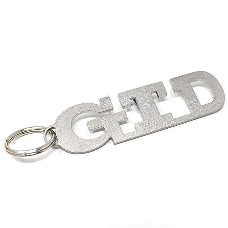 GTD Schl/üsselanh/änger Emblem aus Edelstahl hochwertig