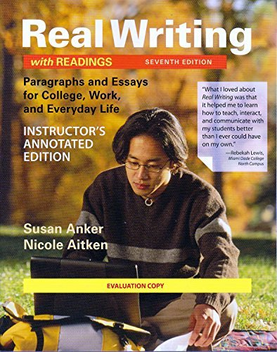 annotated edition essay instructor real Tips and strategies on supervising the tok essay, so your students choose the  right  of the most challenging part of the theory of knowledge course for you as  a teacher  of knowledge questions, and a the quality of analysis of knowledge  questions  the third edition of our hugely popular gives advice on helping  your.