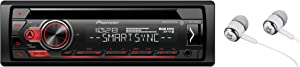 Pioneer DEH-S31BT in Dash CD AM/FM MP3 Bluetooth Audio Streaming , USB , Spotify , Pandora Control , Android Music Support , Smart Sync App Car Stereo Receiver with ALPHASONIK Earbuds