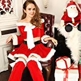 num&liky Ladies Sexy Mrs Miss Christmas Santa Deck The Halls Xmas Fancy Dress Costume Outfit 89143
