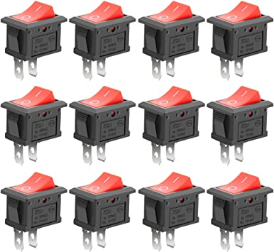 15x 3 Pin 3 Position ON-OFF-ON SPDT Mini Latching Toggle Switch AC 125V//6A T LD