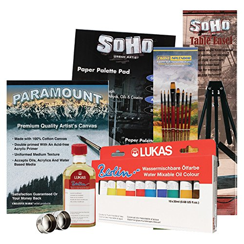 Lukas Berlin Water-Mixable Oil Colors Solvent Free Painting Starter Set