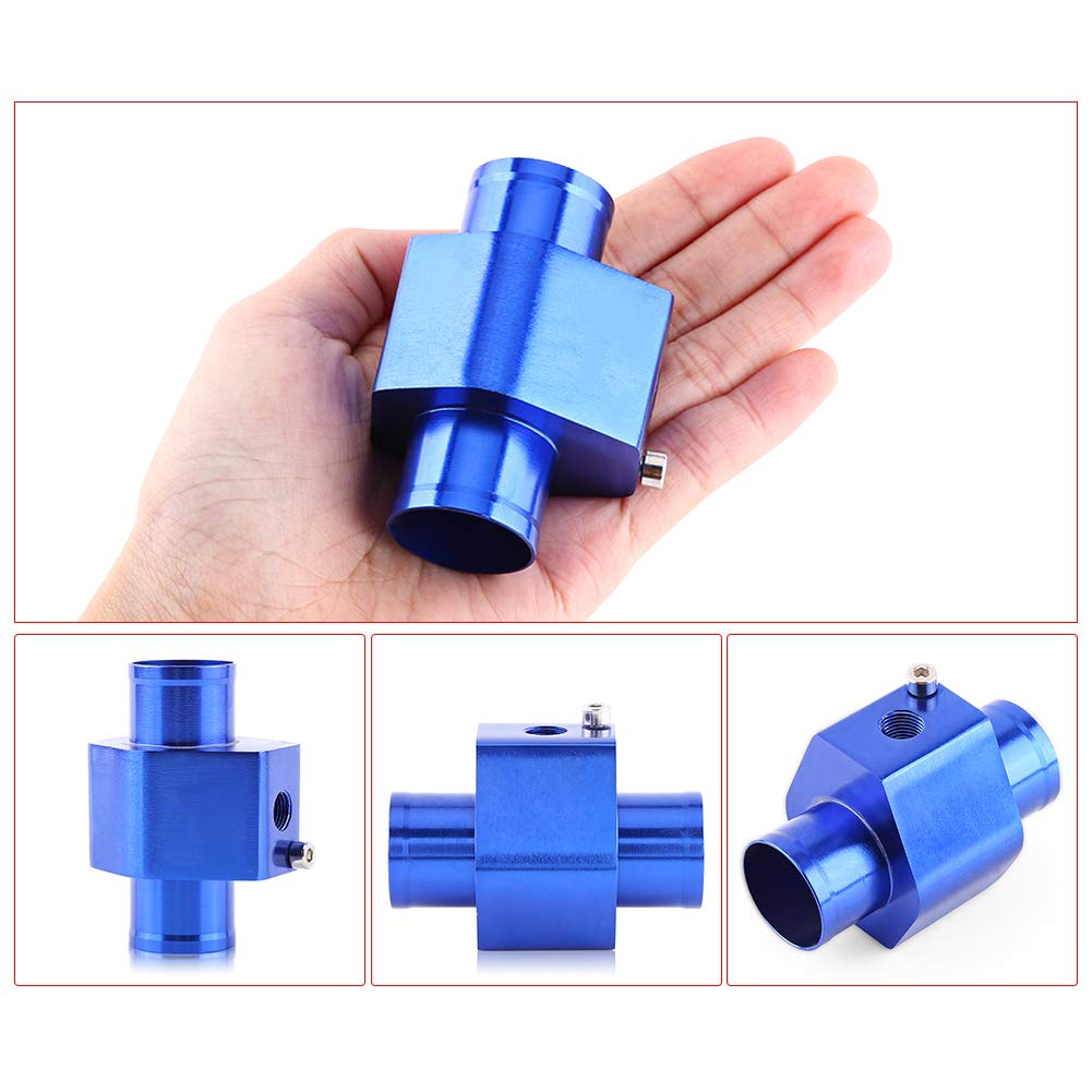 VGEBY Acqua Temp Sensore di Temperatura del Tubo con 2 Fascette Comune Gauge Radiatore Tubo Adattatore Blu 26-40MM Colore : 38MM