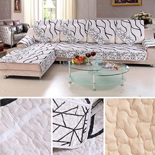 Sofa Slipcovers Sofa Cover Sear Cover, GOTD Sofa Cover Black And White Striped Sofa Sectional Sofa For Cover Case Sofa Armre (180CM70CM)