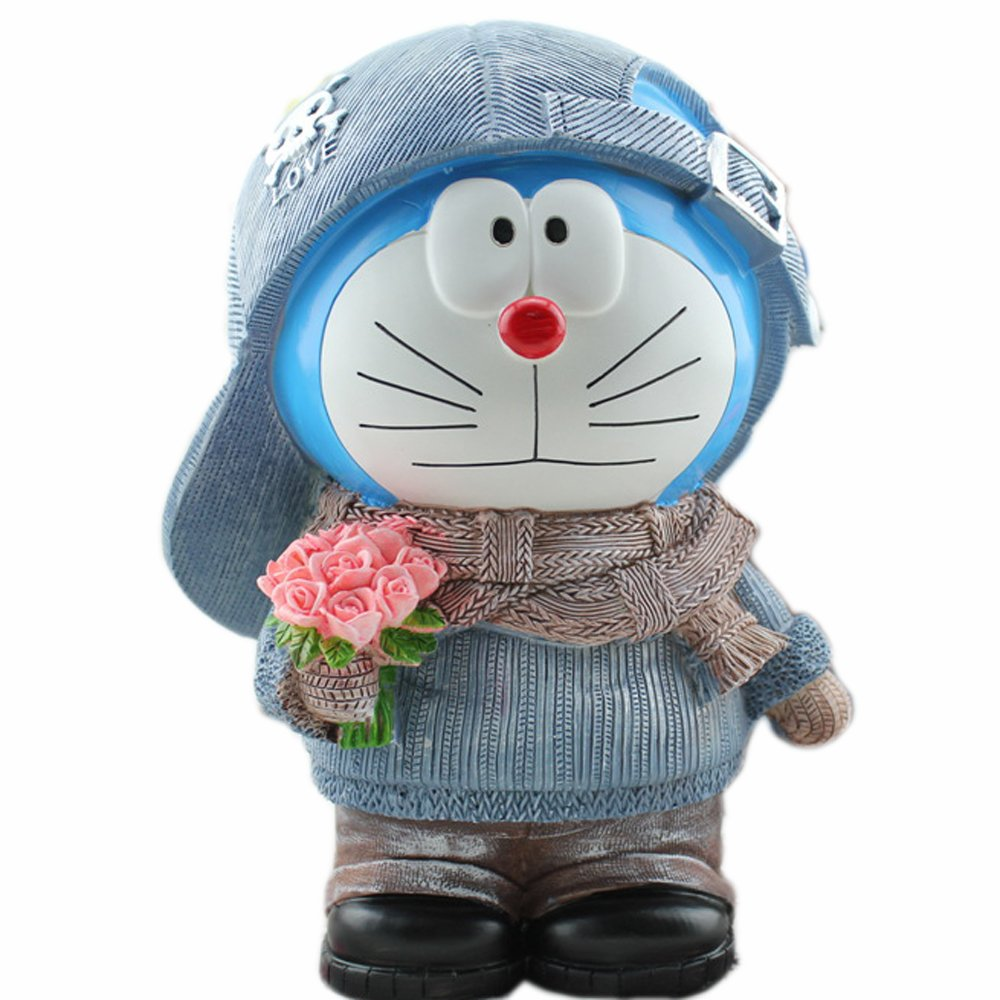 Doraemon Resin Coin Bank Children's Birthday Gifts Home Furnishing Articles (A)