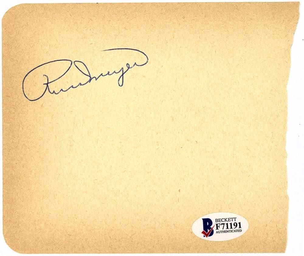 Bill Dickey Signed Autographed 3x4.5 Vintage Cut Signature Beckett BAS
