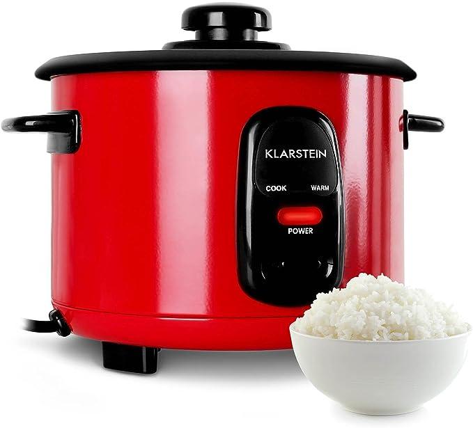 rouge Klarstein Osaka 1,5 Cuiseur /à riz /électrique 500W, fonction r/échauffage, capacit/é 1,5L, cuill/ère et gobelet doseur inclus, arr/êt automatique