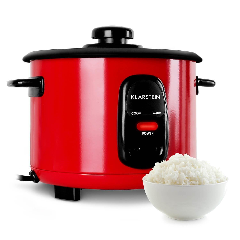 Klarstein Osaka pentola elettrica cuociriso (500 W, 1,5 litri, 8 tazze, funzione mantieni calore, accessori in dotazione, cucchiaio da riso, bicchiere graduato) - nero…