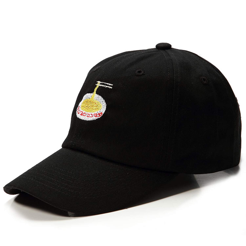 Kievil Adjustable Nuddles Embroidery Cotton Baseball Hat Fashion Unisex Cacaul Dad Hats Girl Cap