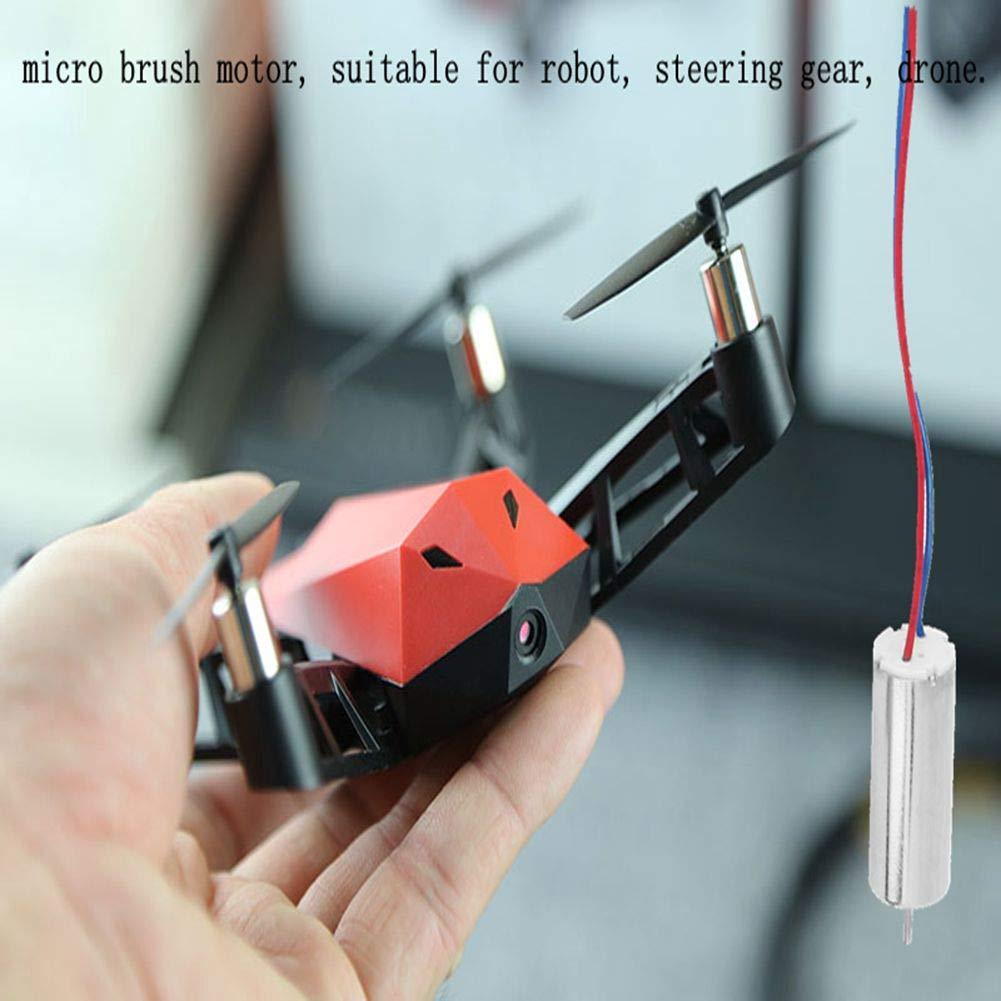 10x20mm B/ürstenmotor Acogedor 4Pcs Micro Motor Lenkgetriebe Drohne. DC3.7V // 44000RPM Motor ger/äuscharm, geringer Stromverbrauch f/ür Roboter