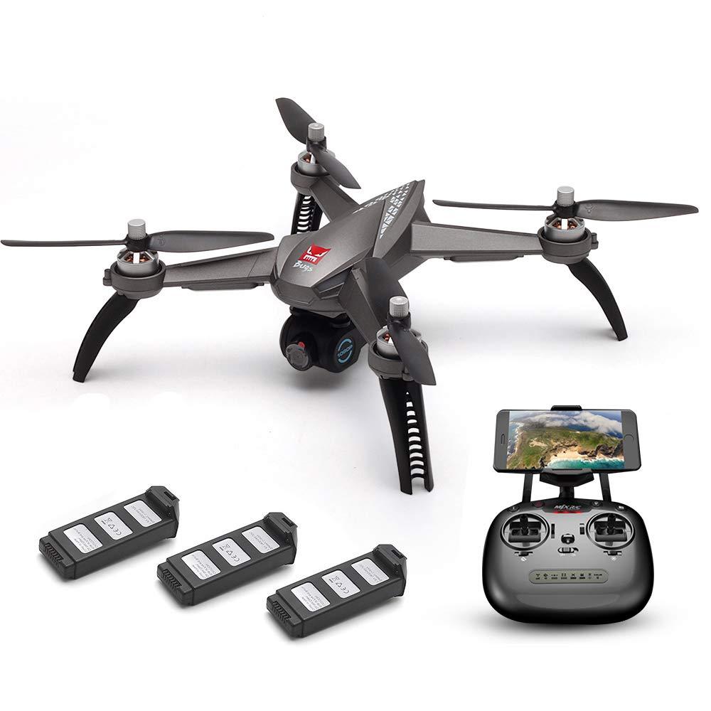 Goolsky MJX Bugs 5W 1080P 5G WiFi FPV Cámara Posicionamiento GPS Altitud Mantenga RC Drone w / Tres Baterías