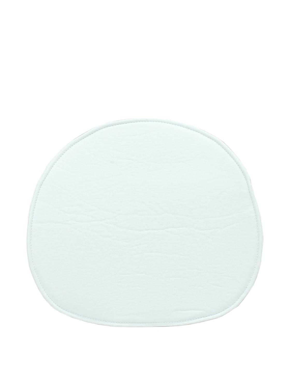 Aryana Home Cojín Silla Eames réplica, Piel sintética, Blanco, 40x36