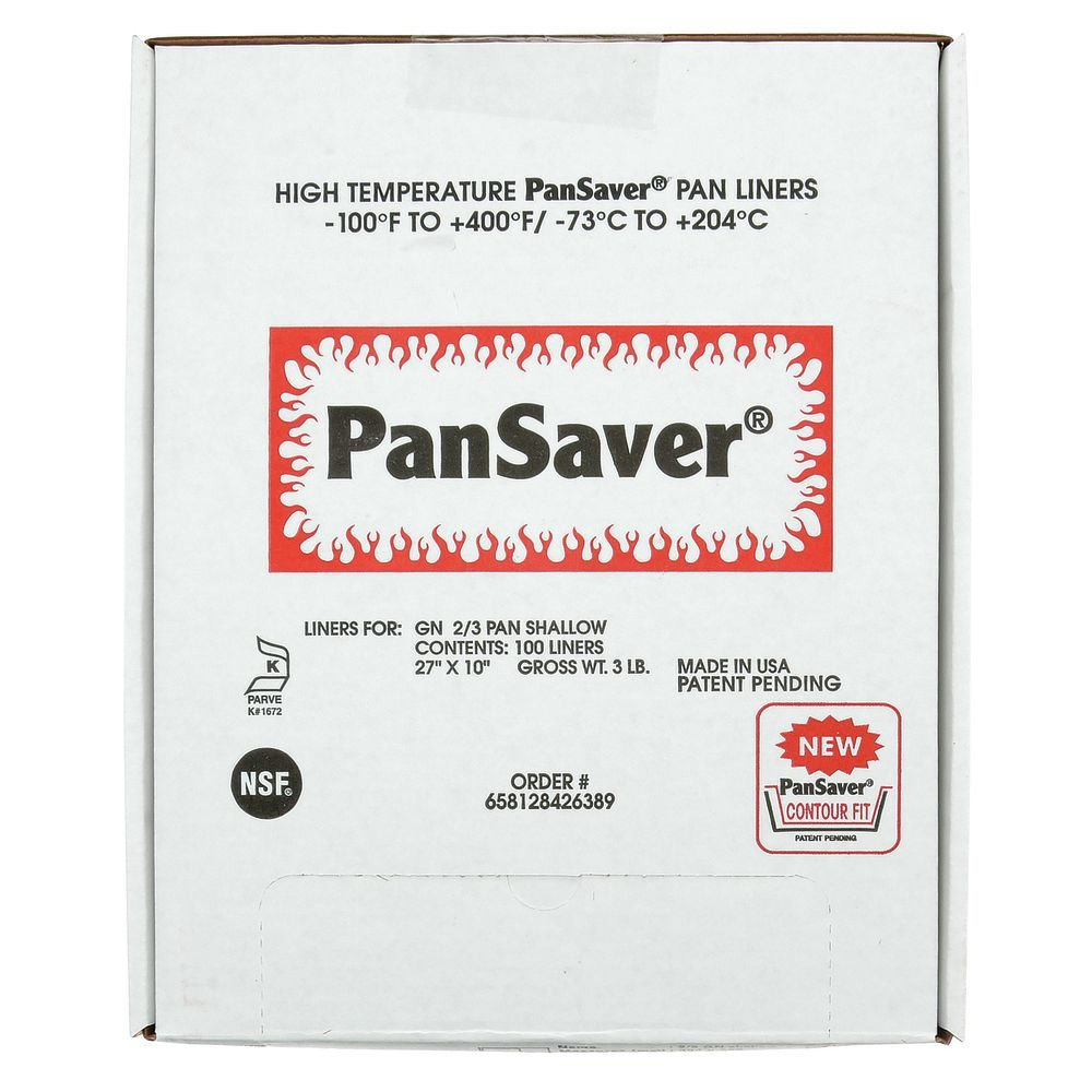 PanSaver Monolyn 1/2 Size Long Steam Table Pan Liner Clear Plastic - 2 1/2''D 100 Per Case by M & Q PACKAGING LLC