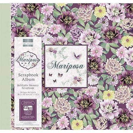 "Beautiful Floral 12"" X 12"" Scrapbook Album"