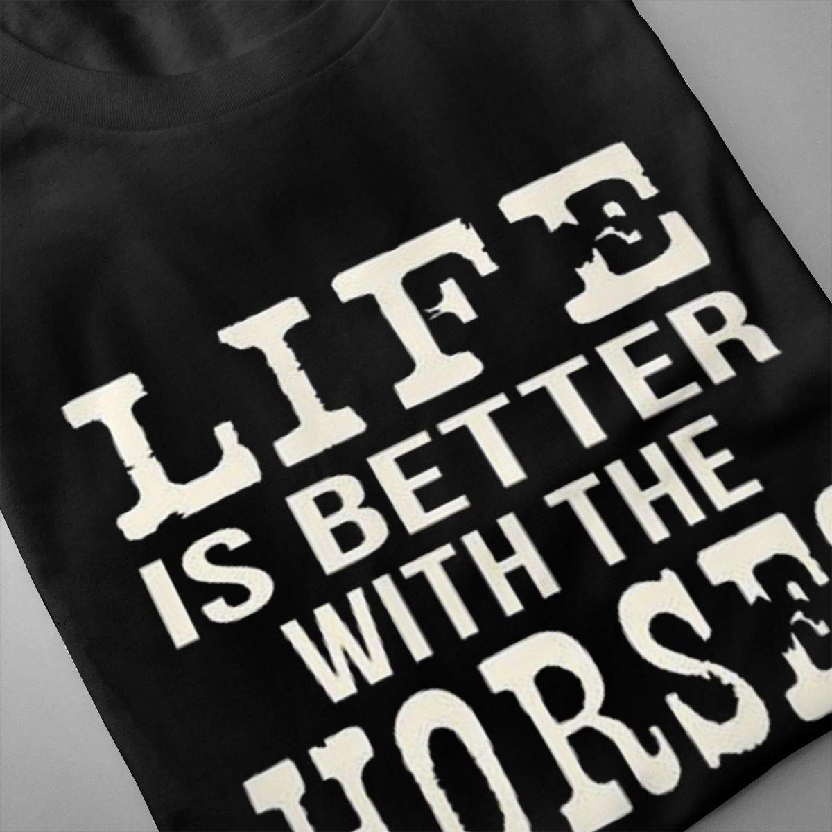 Marsherun Men Life is Better with A Horse Classic Short Sleeve T Shirt