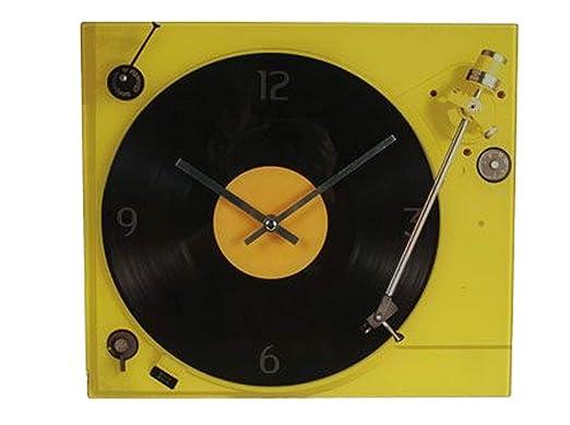Preis am Stiel Reloj de Pared con Tocadiscos, diseño Retro, Vinilo ...