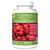 Trunature ONE PER Day Cranberry 650 mg 2 Packs (140 Capsules)