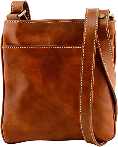 Man Leather Bag Color Cognac