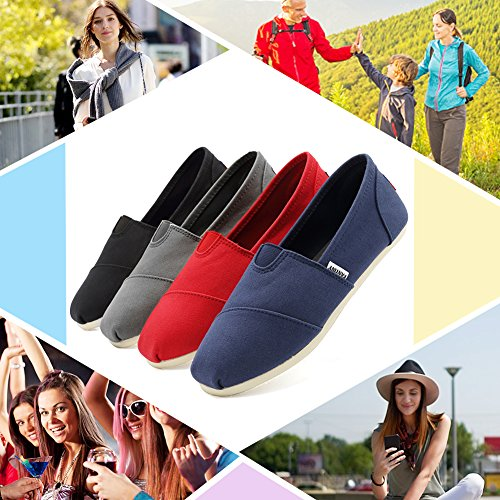 Fantiny Women's Classics Canvas Shoes Memory Foam Insole Flats Loafers Slip on CasualShoes by CIOR (Image #1)