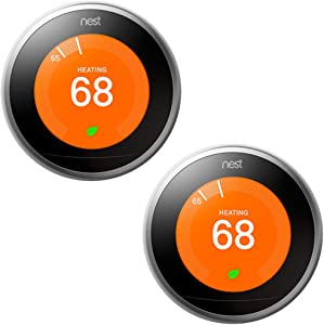 Nest Learning Thermostat 3rd Gen Stainless Steel 2 Pack (T3007ES)