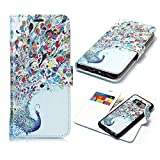 Galaxy S8 Case,DAMONDY 2 in 1 Detachable Pattern Wallet Purse Card Slot ID Design Flip Cover Purse Pocket Leather Magnetic Protective for Samsung Galaxy S8-peacock