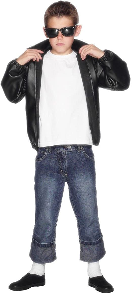 Grease T-Bird Jacket - Kids (disfraz): Smiffys: Amazon.es ...