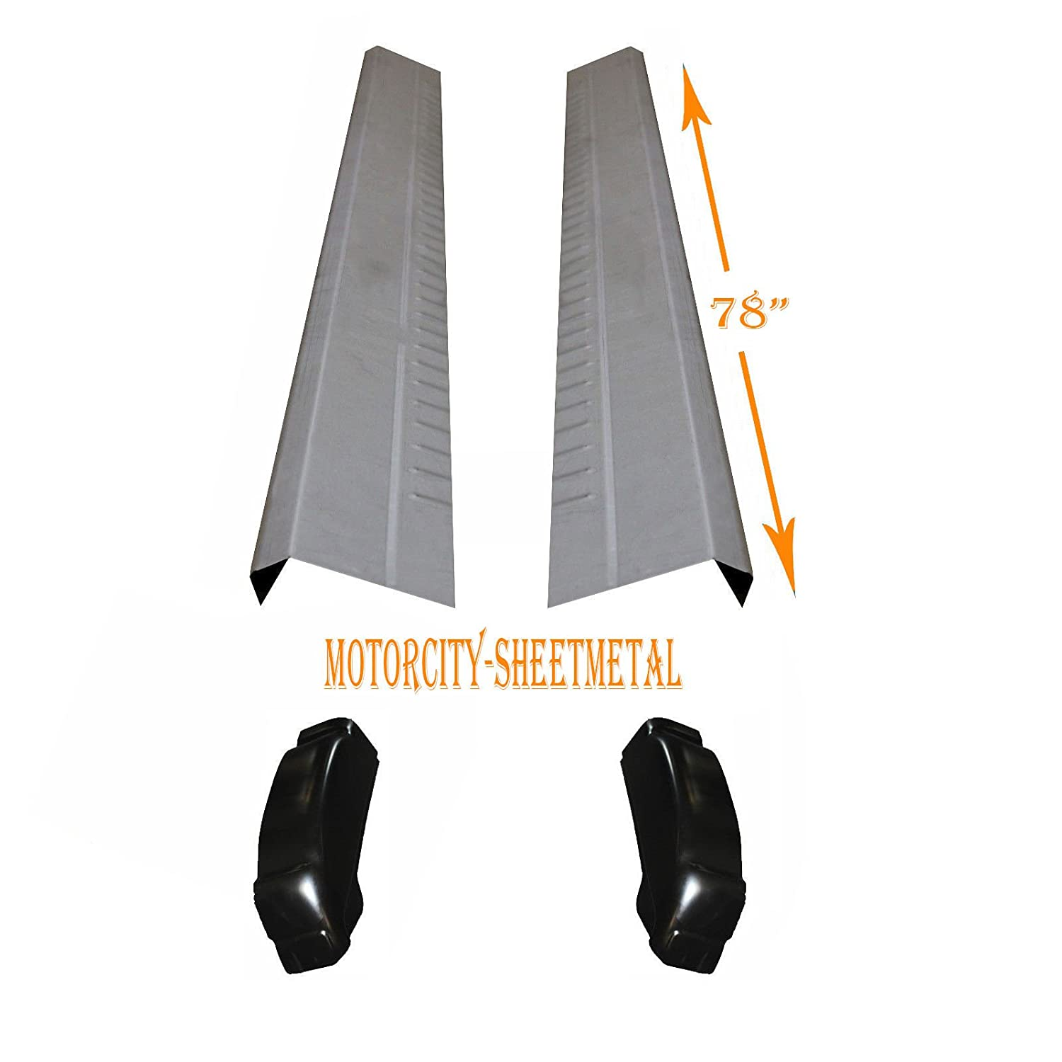1999-2007 Works With Chevy Silverado 4 Door Extended Cab Outer Rocker Panel And Cab Corner Pair Motor City Sheet Metal