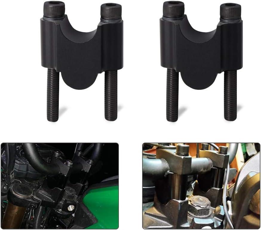 "7/8"" Handlebar Risers Mount Clamp Handle Bar Riser 30mm Height Compatible with Kawasaki Honda ATV Dirt Bike Yamaha MT-07 MT-09"