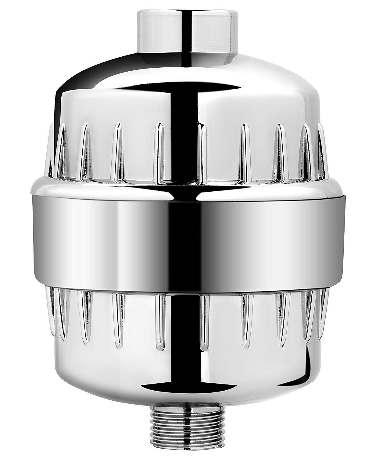 AquaBliss Multi-Stage Shower Filter w/ Replaceable Cartridge – Transform Itching, Eczema & Acne into Glowing Hair, Nails and Skin Fast. Chrome SF220