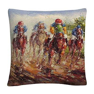 """Trademark Fine Art MA0356-PIL1616 Rio 'Kentucky Derby' 16"""" X 16"""" Decorative Throw Pillow, Multicolor"""