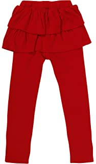 9868a21fa5754 Simplicity Girls Stretchy Fleece Lined Footless Leggings with Ruffle Tutu  Skirt