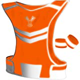 The 247 Viz Reflective Vest With Inside Pocket & 2 High Visibility Running Safety Bands