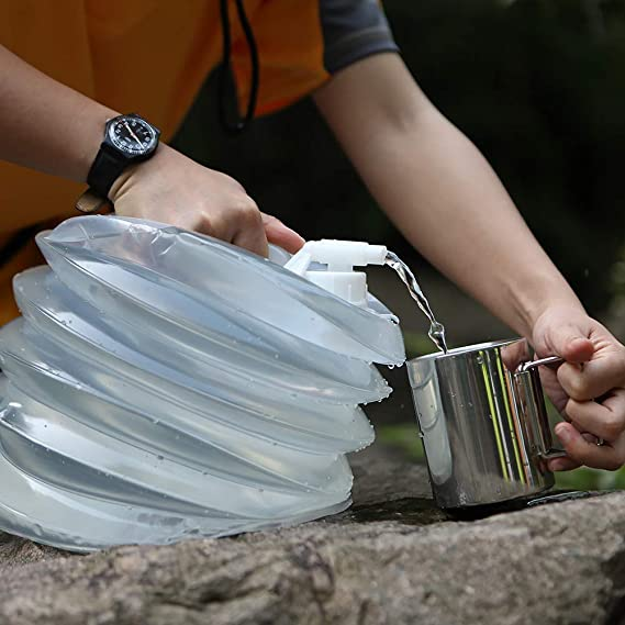 AceCamp Large Capacity Folding Water Bottles Water Containers Outdoor Car Water Bags Buckets 5L,8L,10L,15L