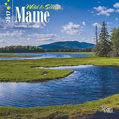 "Maine, Wild & Scenic 2017 Mini Calendar 7"" x 7"""