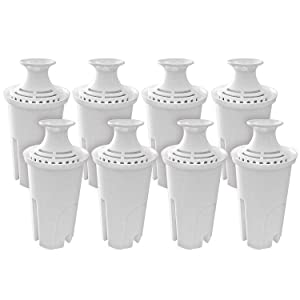 Fette Filter – 8 Pack Water Filter Replacement Compatible with Brita Standard Water Pitchers